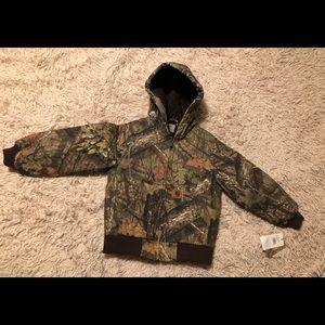 Boy's Carhartt Coat NWT SZ XS-6/Mossy Oak Camo